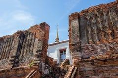 Ruiny Prasat Nakorn Luang, Amphoe Nakorn Luang, Phra Nakorn Si Ayutthaya, Tajlandia Obrazy Stock
