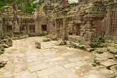 Ruiny Preah Khan świątynia w Siem Przeprowadzają żniwa, Kambodża Obrazy Stock