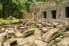 Ruiny Preah Khan świątynia w Siem Przeprowadzają żniwa, Kambodża Zdjęcia Royalty Free