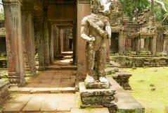 Ruiny Preah Khan świątynia z ucinającym głowę stanem w Siem Przeprowadzają żniwa, Kambodża Fotografia Stock