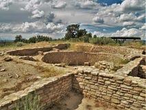 Ruiny przy Anasazi dziedzictwa centrum Obrazy Royalty Free