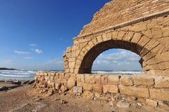 Ruiny przy Caesarea Izrael obraz royalty free