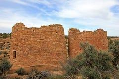 Ruiny przy Hovenweep Krajowym zabytkiem, Kolorado obrazy royalty free