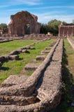 Ruiny przy piazza D'oro przy willą Adriana Zdjęcie Stock