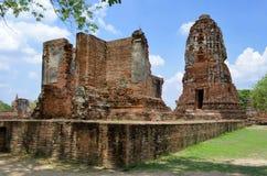 Ruiny przy Watem Maha Który w Ayutthaya Zdjęcia Stock