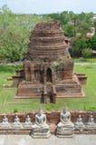 Ruiny przy Watem Yai Chai Mongkol w Ayutthaya Fotografia Royalty Free