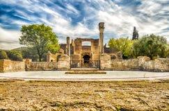 Ruiny przy willą Adriana, Tivoli, Włochy (Hadrian willa) zdjęcia stock