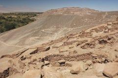 Ruiny Pucara De Quitor obraz stock