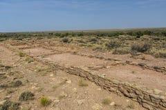 Ruiny Puerco osady datowanie od 1300 A d lokalizować w Petr obrazy royalty free
