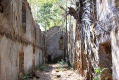 Ruiny Redi porzucali przy letnim dniem i antyczny fort Obraz Royalty Free