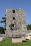 Ruiny średniowieczny forteca w Drobeta Turnu-Severin Fotografia Stock