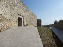 Ruiny średniowieczny forteca w Drobeta Turnu Severin Zdjęcia Royalty Free
