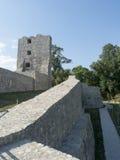 Ruiny średniowieczny forteca w Drobeta Turnu Severin Zdjęcia Stock