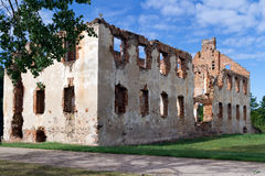 Ruiny rezydencja ziemska Obrazy Royalty Free