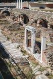 Ruiny Romański forum w Saloniki, Grecja zdjęcie stock