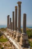 Ruiny Romański miasto w oponie zdjęcia stock
