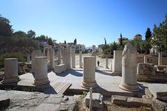 Ruiny Romańska agora, Ateny Zdjęcie Royalty Free