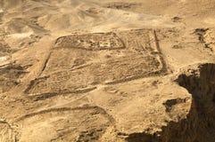 Ruiny Romański Podstawowy obóz przy Masada Obraz Stock
