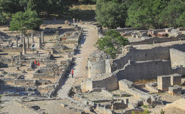 Ruiny rzymski grodzki Glanum fotografia royalty free