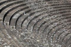Ruiny rzymski teatr w Lion obrazy stock