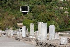 Ruiny rzymski teatr w Lion zdjęcia stock