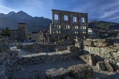 Ruiny rzymski theatre Obrazy Stock