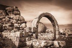 Ruiny São João antyczny kościół w Monsanto wiosce Obraz Royalty Free
