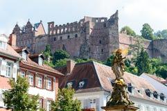 Ruiny sławny kasztel w Heidelberg, Niemcy Obrazy Royalty Free