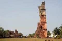 Ruiny St Augustine klasztoru kompleks przy Starym Goa obraz stock