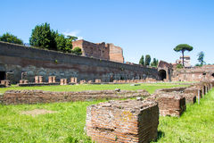 Ruiny stadium na palatynu wzgórzu w Rzym, Włochy obraz stock