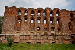 Ruiny stara średniowieczna niemiec roszują Ragnit w Konigsberg Obraz Royalty Free