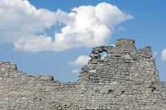 Ruiny stara forteca ściana Obraz Royalty Free
