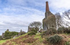 Ruiny stara kopalnia miedzi w Anglia UK i cyna fotografia stock