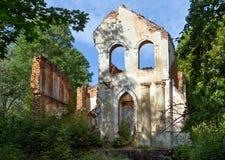 Ruiny stara rezydencja ziemska Zdjęcie Royalty Free