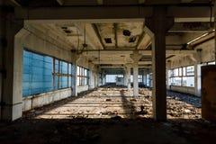 Ruiny stara zaniechana fabryka Zdjęcie Royalty Free