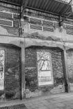Ruiny stara zaniechana fabryka Perspektywa zaniechany Obraz Stock