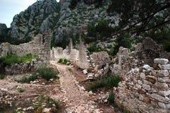 Ruiny starożytnego grka miasteczko Olympos blisko Cirali, Turcja zdjęcia royalty free