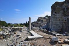 Ruiny starożytnego grka miasto Ephesus obrazy royalty free
