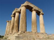ruiny starożytnej greki zdjęcia royalty free