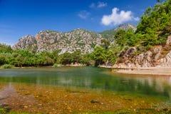 Ruiny staro?ytny grek i rzymski antyczny miasto Olympos blisko Antalya Turcja obrazy royalty free