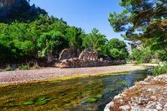 Ruiny staro?ytny grek i rzymski antyczny miasto Olympos blisko Antalya Turcja zdjęcia royalty free
