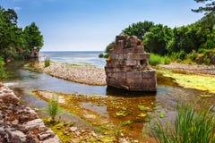 Ruiny staro?ytny grek i rzymski antyczny miasto Olympos blisko Antalya Turcja fotografia royalty free