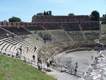 Ruiny starożytny grek i rzymski theatre w Taormina Zdjęcie Royalty Free