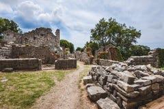 Ruiny Stary bar, Montenegro zdjęcie royalty free