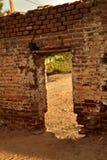 Ruiny stary ceglany cukrowy młyn w Todos Santos, Baj, Meksyk obrazy royalty free