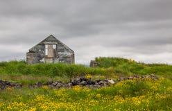 Ruiny stary dom obrazy stock