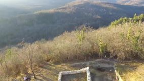 Ruiny stary kasztel od powietrza zbiory