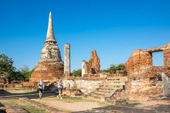 Ruiny stary miasto Ayutthaya, Tajlandia Obrazy Royalty Free