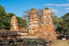 Ruiny stary miasto Ayutthaya, Tajlandia Fotografia Stock