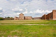 Ruiny stary pałac w Białoruś Fotografia Royalty Free